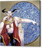 Minotaur With Mosaic Canvas Print