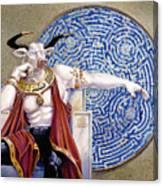 Minotaur With Mosaic Canvas Print