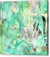 Mint Bling Canvas Print