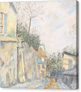 Mirage Of Utrillo Canvas Print