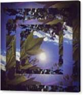 Mirrored Leaf Canvas Print