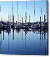 Mirrored Masts  Canvas Print