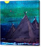 Mirrored Moon Canvas Print