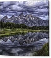 Mirrored Mountains Canvas Print