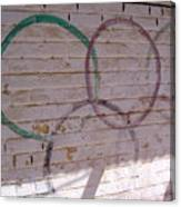 Miscolored Olympic Rings Canvas Print