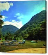 Mismaloya River Fishing Boats 0344 Canvas Print