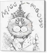 Miss E-mouse Canvas Print