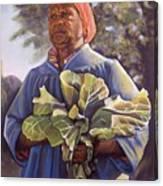 Miss Emma's Collard Greens Canvas Print