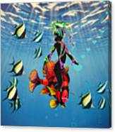 Miss Fifi New Friends In The Ocean Canvas Print