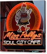 Miss Polly's Soul City Cafe Canvas Print