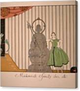Miss Spinelly At Home Canvas Print
