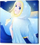Miss Winter-night Canvas Print