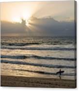 Mission Beach Surfer Canvas Print