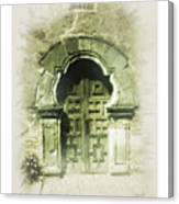 Mission Espada Chapel Door Canvas Print