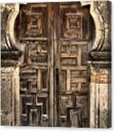 Mission Espada Door - 2 Canvas Print