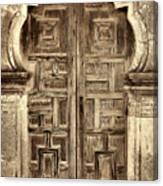 Mission Espada Door - 4 Canvas Print