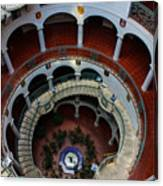 Mission Inn Circular Stairway Canvas Print