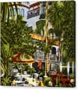 Mission Inn Spanish Patio 1940s Canvas Print