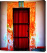 Mission Red Door Canvas Print