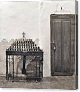 Mission San Diego - Confessional Door Canvas Print