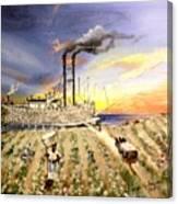 Mississippi Cotton Boat Canvas Print