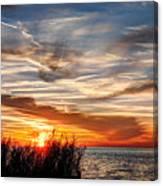 Mississippi Gulf Coast Sunset Canvas Print