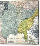 Mississippi Region, 1687 Canvas Print