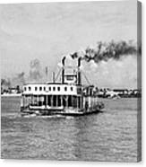 Mississippi River Ferry Boat Canvas Print