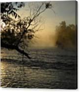 Mississippi River Foggy June Sunrise Canvas Print