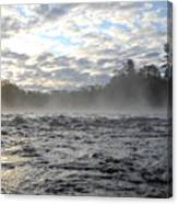 Mississippi River Mist Over Rushing Water Canvas Print