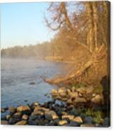 Mississippi River Shades Of Fog Canvas Print
