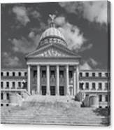 Mississippi State Capitol Bw Canvas Print