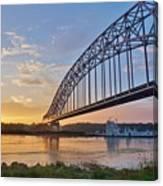 Mississippi Sunrise Crossing Canvas Print