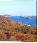 Mississippi Views From Grafton Bluffs Canvas Print