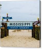 Mississippi Welcome Canvas Print