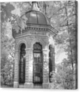 Missouri Botanical Garden Henry Shaw Crypt Infrared Black And White Canvas Print