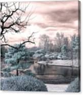 Missouri Botanical Garden Infrared Pond Blue Canvas Print