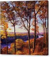 Missouri River In Fall Canvas Print