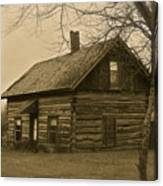 Missuakee County Log Cabin Canvas Print