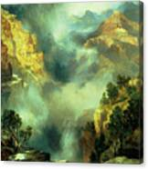 Mist In The Canyon Canvas Print
