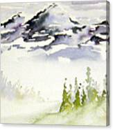 Mist In The Mountains Canvas Print