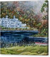 Mist Over Kylemore Abbey Canvas Print