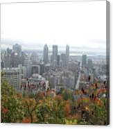 Mist Over Montreal Canvas Print