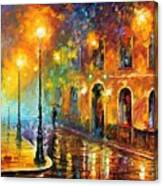 Misty City Canvas Print