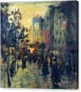 Misty Effect Paris Canvas Print