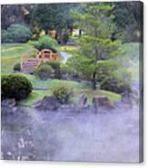 Misty Garden Canvas Print