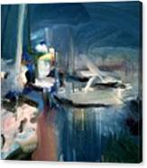 Misty Harbor Canvas Print