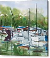 Misty Marina Canvas Print
