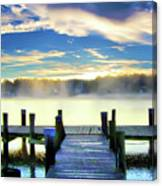 Misty Morning On Rock Creek Canvas Print