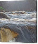 Misty Morning On The River Canvas Print